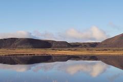 Mirror (benjaminpatterson) Tags: cloudsabove outdoor icelandic mountain reflection reflect eerie stillness mirror