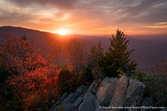 Mount Cammerer Magic (David Swindler (ActionPhotoTours.com)) Tags: autumn color sunset mountcammerer northcarolina clouds tennessee smokymountains camm fall cammerer drama