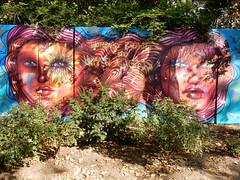 Woman's Rights are Human Rights (aestheticsofcrisis) Tags: street art urban intervention streetart urbanart guerillaart graffiti newyork newyorkcity ny nyc lowereastside feministgraffiti womens rightspanmela castro