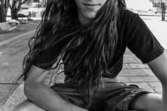 Long happy hair (lucia.camba) Tags: luciacamba luciacambaphotography humans human fish people blackandwhite orange colour dramatic love long hair longhair boy girl girls food tea drink drinking session photo photography photographer picture tattoo girlwithplugs girlwithtattoos lararitadelparque ropa moda fashion easd ourense mar ría ocean sea beach eat