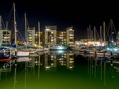Millionaires Playground (RS400) Tags: million millonaires playground water cool wow amazing boat boats sailing buildings art arts life portishead bris bristol lights long exposure colours colour colourful bling money olympus reflection
