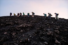 PA034613 Italy Sicily Mount Stromboli climb (Dave Curtis) Tags: 2013 em5 europe omd olympus italy sicily mount stromboli volcano climb people