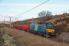 68019 Scout Green, Cumbria (DieselDude321) Tags: 68019 class 68 drs direct rail services 6k05 1042 carlisle ny crewe basford hall ssm scout green shap cumbria wcml