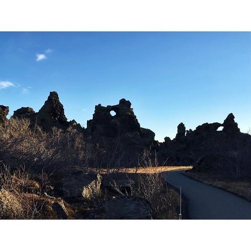 Lava lava lava #beautiful #lava #fields #iceland #myvatn #lakemyvatn #dimmuborgir