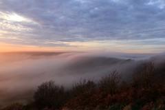 Blanket of Mist - 2016-10-31 - In Explore! (BillyGoat75) Tags: fog mist sunset holeofhorcum northyorkshire