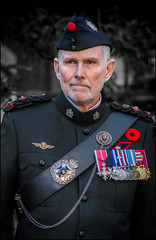 Queens Own Rifles of Canada Remembrance (Rodrick Dale) Tags: queens own rifles canada remembrance soldier medals uniform toronto ontario november portrait st pauls airborne poppy