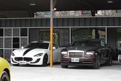 Maserati GranTurismo Sport & Rolls-Royce Wraith (rvandermaar) Tags: maserati granturismo sport rollsroyce wraith rollsroycewraith maseratigranturismo rolls royce