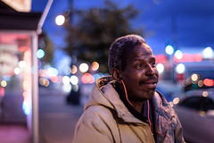Ray (Geoff Livingston) Tags: street portrait dc noma massave bokeh soap bubble africanamerica middleage man