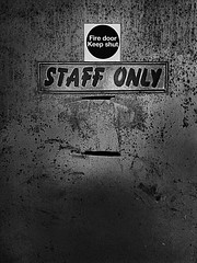 "Staff only ! (CJS*64 ""Man with a camera"") Tags: craigsunter cjs craig staff staffonly signs blackwhite bw blackandwhite whiteblack whiteandblack mono monochrome samsung samsungj3 mobile mobilephone"