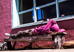Refugiera (Pase a ver) Tags: bariloche refugiolopez lopez refugio patagonia argentina persona sueo descanso sleep montaa mountain refuge