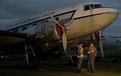 CAF DC-3 Dakota G-AMPY (KK116) Coventry 03-12-16 (robdsn) Tags: douglas dc3 dakota classic airforce cvt coventryairport airplane timeline events nightshoot