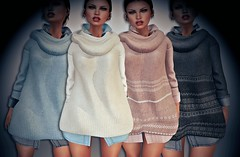 Winter Sweater with Shirt (Insomnia Store) Tags: insomniastore is maitreya slink belleza tmp sweater wool autumn winter shirt clothes fashion sl secondlife meshbody