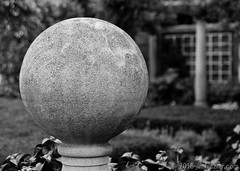 Big Freaking Concrete Ball (Jim Frazier) Tags: summer blackandwhite bw detail english texture monochrome june gardens closeup museum ball garden giant botanical concrete illinois big meetup gardening formal parks blurred il study ornament cbc glencoe botanic desaturated gigantic horticulture preserve q3 botanicgardens publicgarden walled enormous chicagobotanicgarden wscf blurredbackground 2013 englishwalledgarden westsuburbanchicagoflickrers forestpreservedistrictofcookcounty ldjune jimfraziercom chicagohorticulturalsociety wmembed ld2013 20130601chicagobotanicgarden
