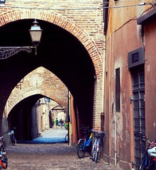 Ferrara, city of bicycles (cristinabaghiu) Tags: street city italy bike bicycle nikon europa europe italia cobblestone ferrara citta emiliaromagna p500 italiaaprilie2013