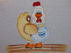 Galinha charmosa (Pinturas Mrcia) Tags: galinha country artesanato abelha coruja morangos pinturas tecido
