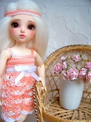 Mia shows the new playsuit :) (Debi Doo Doll) Tags: chloe bjd fairyland yosd littlefee nomyens
