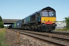 66416 Stockton-on-Tees. 18.07.2013. (Laurie Mulrine) Tags: stockton class66 66416