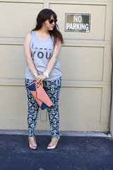Fill in the Blank (triplyksis) Tags: geometric fashion grey tank pants style heels clutch printed holographic asos f21 colorblock streetstyle fashionstyle dailyoutfit modifywatches