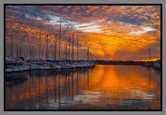 Sunset reflection on Marina-5=
