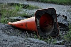 I Get Knocked Down (Lake Effect) Tags: orange grass cone asphalt msh0713 msh07139