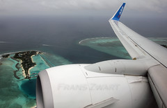 Maldives - 1 (Frans Zwart) Tags: white beach water make paradise cockpit beaches boeing winglet maldives departure fz flightdeck 737 mle b737 737800 atols fdb b738 vrmm flydubai