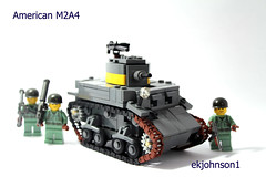 American M2A4 (ekjohnson1) Tags: america soldier marine tank lego wwii priest sherman jima m7 moc peleliu iwa lvt guadacanal m2a4