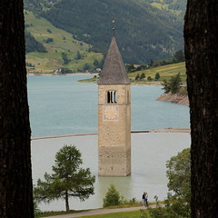 Underneath the Bell-tower (Frankhuizen Photography) Tags: italy im belltower underneath venosta curon graun vinschgau 2013
