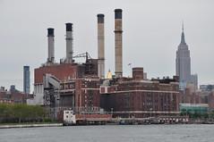 Power Plant And Empire State Building (Ryan Hadley) Tags: newyorkcity usa newyork river manhattan eastriver rivercruise