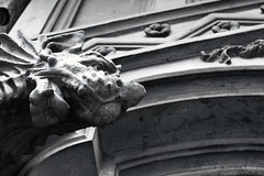 """Dragon that guards """"Palazzo della Vittoria"""" (Masoudeh Miri) Tags: italy detail architecture facade torino liberty blackwhite italia dragon outdoor traditional piemonte artnouveau ornament palazzo turin bianconero 1925 drago portone architectura dettaglio inhabitant tradizionale facciata ornamento corsofrancia casaliberty palazzodellavittoria casadelcavaliere abitazzione"""