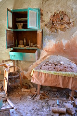 In the kitchen cupboard, on the kitchen table, Ruined Houses 3, (August 2013) (5telios) Tags: architecture nikon ruins ruin greece oldhouse crete 1855mmf3556gvr d3100 nikond3100