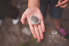 Found a fossil! (Adriana Gomez (Adriana Varela)) Tags: forest fossil hand treasure find