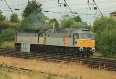 "Railfreight Distribution Class 47/3, 47307 & Class 47/0, 47200 (37190 ""Dalzell"") Tags: spoon duff wigan rfd class47 railfreightdistribution 47200 47307 triplegrey springsbranch brush4 class470 class473 trainloadfreight"