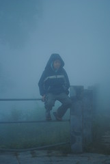 """Hangin' out in the mist (www.mahliaamatina.com) Tags: nepal mist holiday clouds evening cloudy dusk foggy tourist calm jacket retreat hoody skyreflection mountains"""" """"mountain foggyweather """"moving retreat"""" """"holiday nepaliboy dusk"""" clouds"""" """"misty dusksetting"""