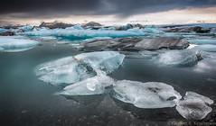 At The Lagoon (Kristinn R.) Tags: sky snow ice water clouds iceland nikon lagoon jkulsrln d3x nikonphotography breiamerkursandur kristinnr