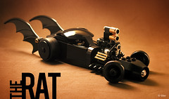 "Lego Batmobile: ""The Rat"" _05 (_Tiler) Tags: car rat lego engine batman chase hotrod vehicle minifig dccomics batmobile armored riddler stance ratrod minifigure riddlerchase"