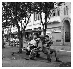 Foto Callejera Con La Brownie 1949 (Street Photography With The Brownie 1949) (Samy Collazo) Tags: street blackandwhite kodak oldsanjuan streetphotography 120film squareformat brownie kodaktrix viejosanjuan plazadearmas blanconegro kodakfilm kodakbrowniehawkeye streetphotographer fotocallejera fotografiaurbana streetcapture kodakd76 streephotography blackwhitephotos fotografiacallejera fotografiadecalle fotourbana formatocuadrado lightroom3 silverefexpro2