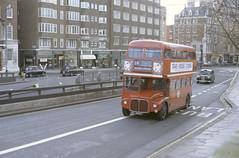 RM 1043 Knightsbridge 13-2-86 (dsj672) Tags: routemaster rm aec