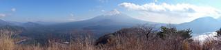 Panorama of Mt.Fuji and Fuji 5 Lakes (1)