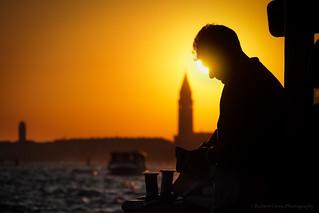 Venetian Sunset Silhouette