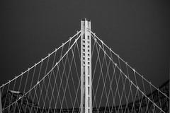 Bay bridge eastern span new & old (BECK17) Tags: blackwhite twilight baybridge easternspan vario45200mm panasonicg3
