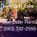 (563) 332-2555 Dumpster Rental Bettendorf Iowa