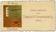 A Merry Christmas Compliments of Temple & Farrington Co., 1886 (Alan Mays) Tags: christmas xmas old windows orange green bronze vintage silver ads paper advertising manchester cards temple typography rainbow holidays interiors kitchens antique flames 19thcentury victorian newhampshire nh ephemera type christmascards greetings advertisements fires fonts printed 1886 borders embossed stationers companies typefaces edges kettles compliments nineteenthcentury greetingcards fireplaces 1880s booksellers serrated washes farrington tradecards mantles templefarringtonco templefarrington templeandfarrington