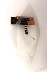 Nah und fern ( 1998 ), plexy, bois, nylon, peinture, boulon, crayon de couleur. (emmanuelviard75) Tags: nylon bois cuivre plexy