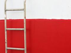 Ladder (flips99) Tags: red white lines norway vertical metal boat december harbour ladder minimalism rød metall havn båt karmøy stige hvit minimalisme vertikal horisontal linjer 2013 colorfulworld canonpowershotg15