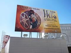 Retail, Iris of Cirque Du Soleil at Hollywood and Highland, Billboard