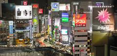 Shibuya (aknoth) Tags: city longexposure sunset panorama streets japan skyline night skyscraper buildings photography lights tokyo shinjuku neon nightshot bright top shibuya scene observatory government roppongi yokohama bunkyo metropolitan aknoth