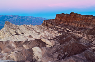 Early morning at Zabriskie Point