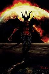 Devilman poster (Pau Gi) Tags: anime toys fire wings burn devilman creatures sentinel amon toyphotography
