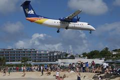 LIAT DHC-8-300 Dash 8; V2-LGB@SXM;28.12.2013/737ah (Aero Icarus) Tags: plane saintmartin aircraft mia flugzeug sxm avion turboprop liat dash8 princessjulianainternationalairport dhc8300 v2lgb