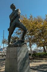 Statue - Rhodes Town Greece (Fuji XM-1 & 16- 50mm Zoom) (markdbaynham) Tags: old statue island greek town fuji hellas x greece grecia trans rodos rhodes fujinon csc dodecanese hellenic xm1 mirrorless digitaldepotcouk digitaldepotstevenage